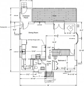 House plans, final version: first floor