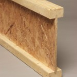 This is a composite wood I-beam. Picture from this website.