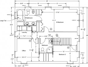 House plans, final version: second floor