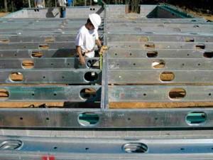 Steel joists. Picture from here.